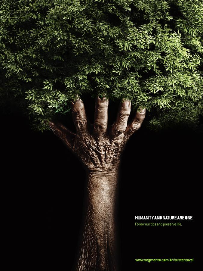 Segmento Print Ad -  Humanity and nature are one