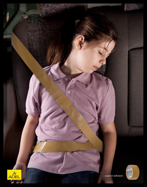 Adel Tape Print Ad -  Seat Belt