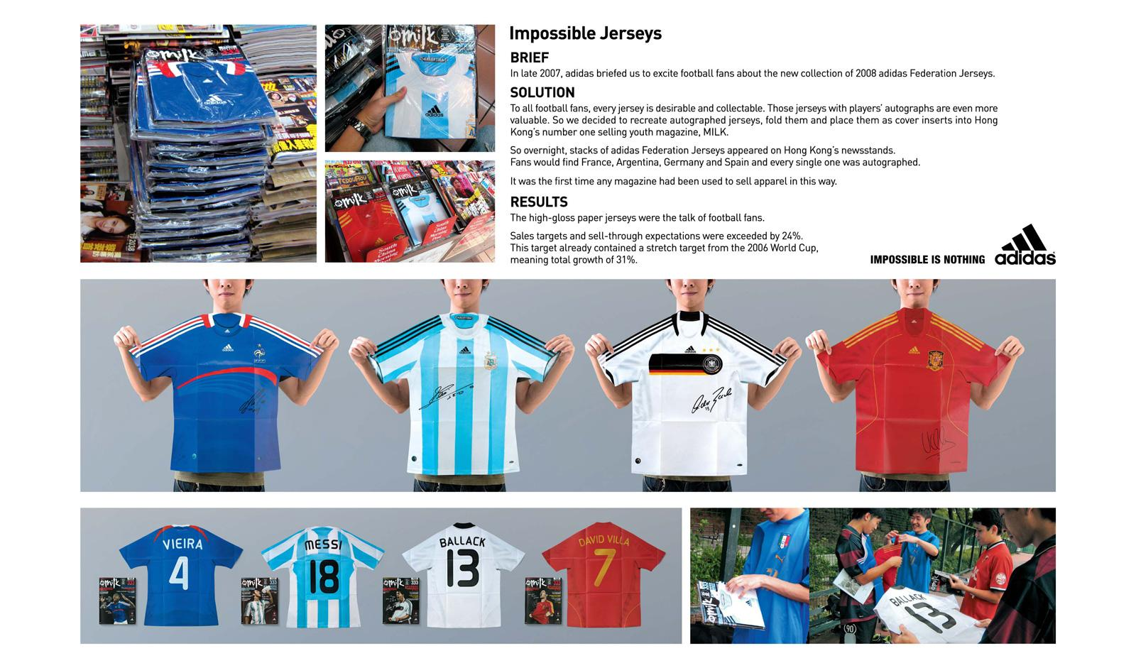 Adidas Ambient Ad -  Impossible Jerseys