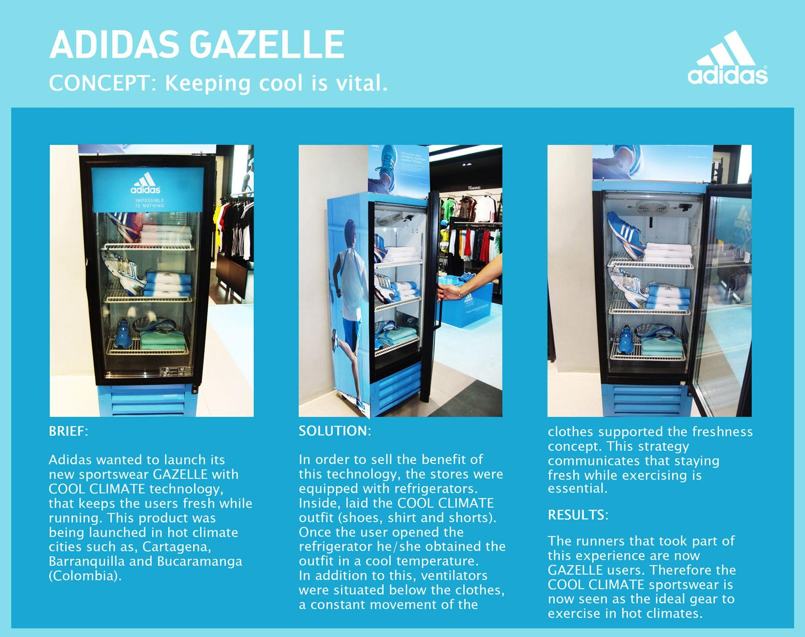 Adidas Ambient Ad -  Gazelle fridge