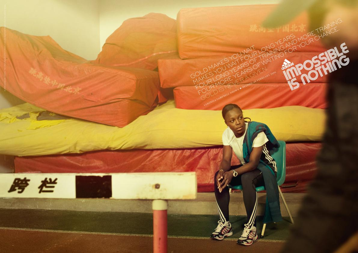 Adidas Print Ad -  Gold, 1