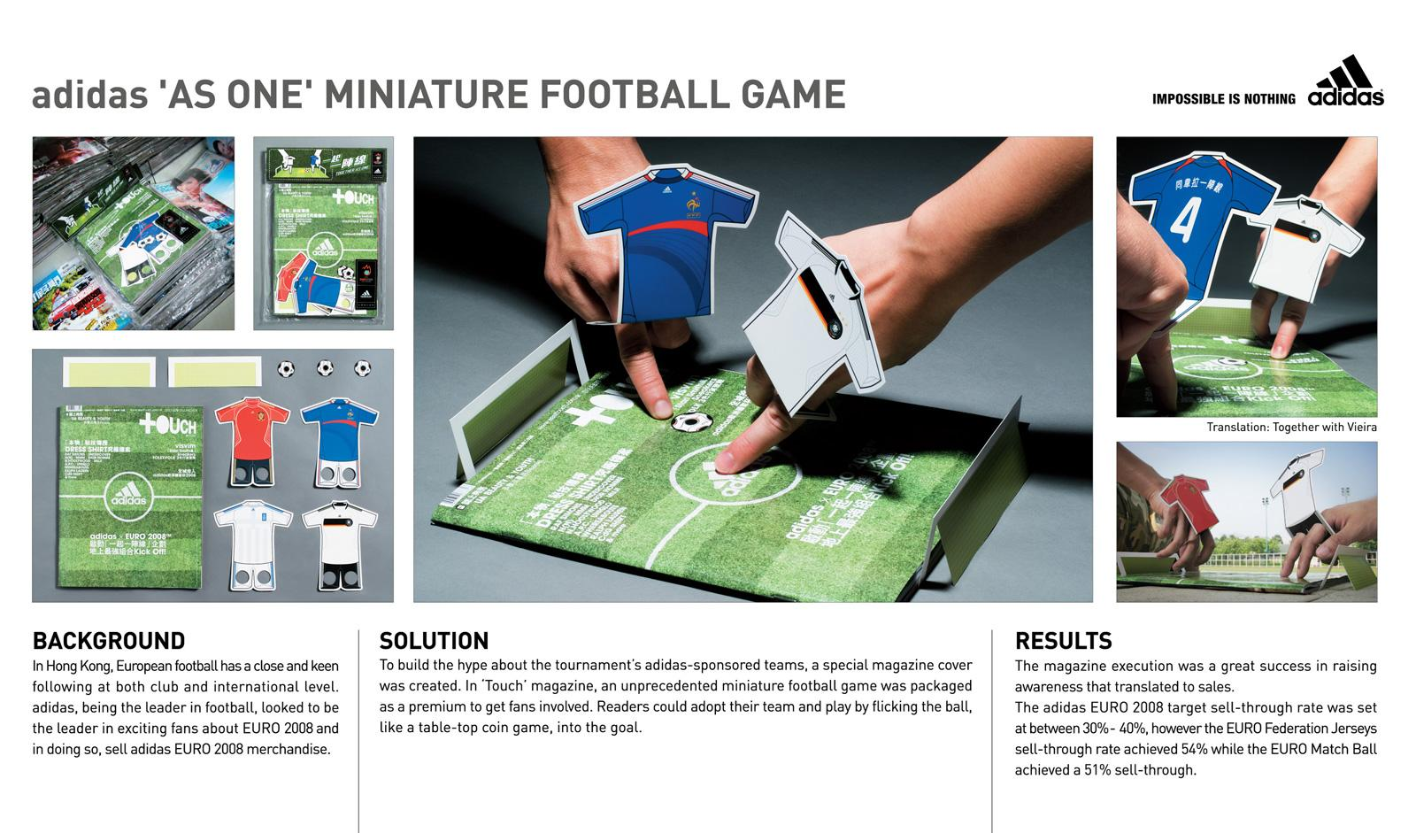 Adidas Ambient Ad -  Miniature football