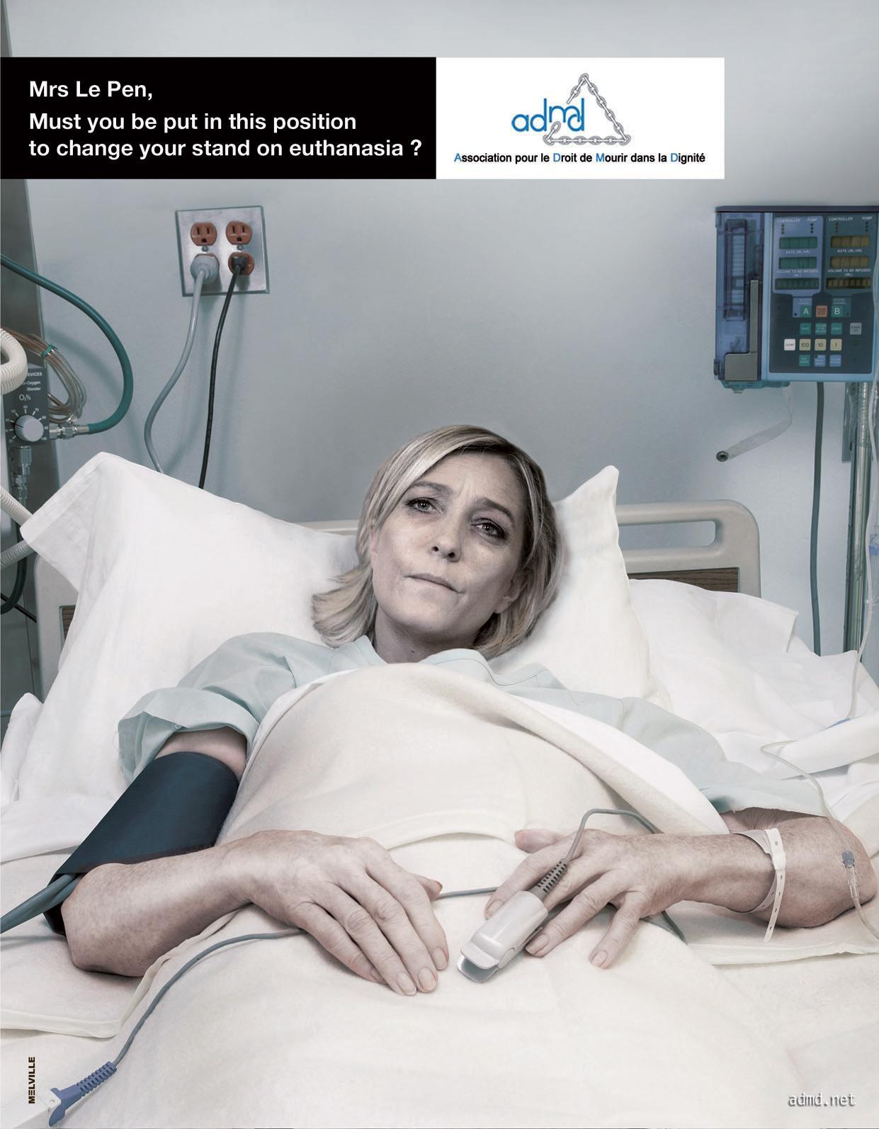 ADMD Print Ad -  Le Pen