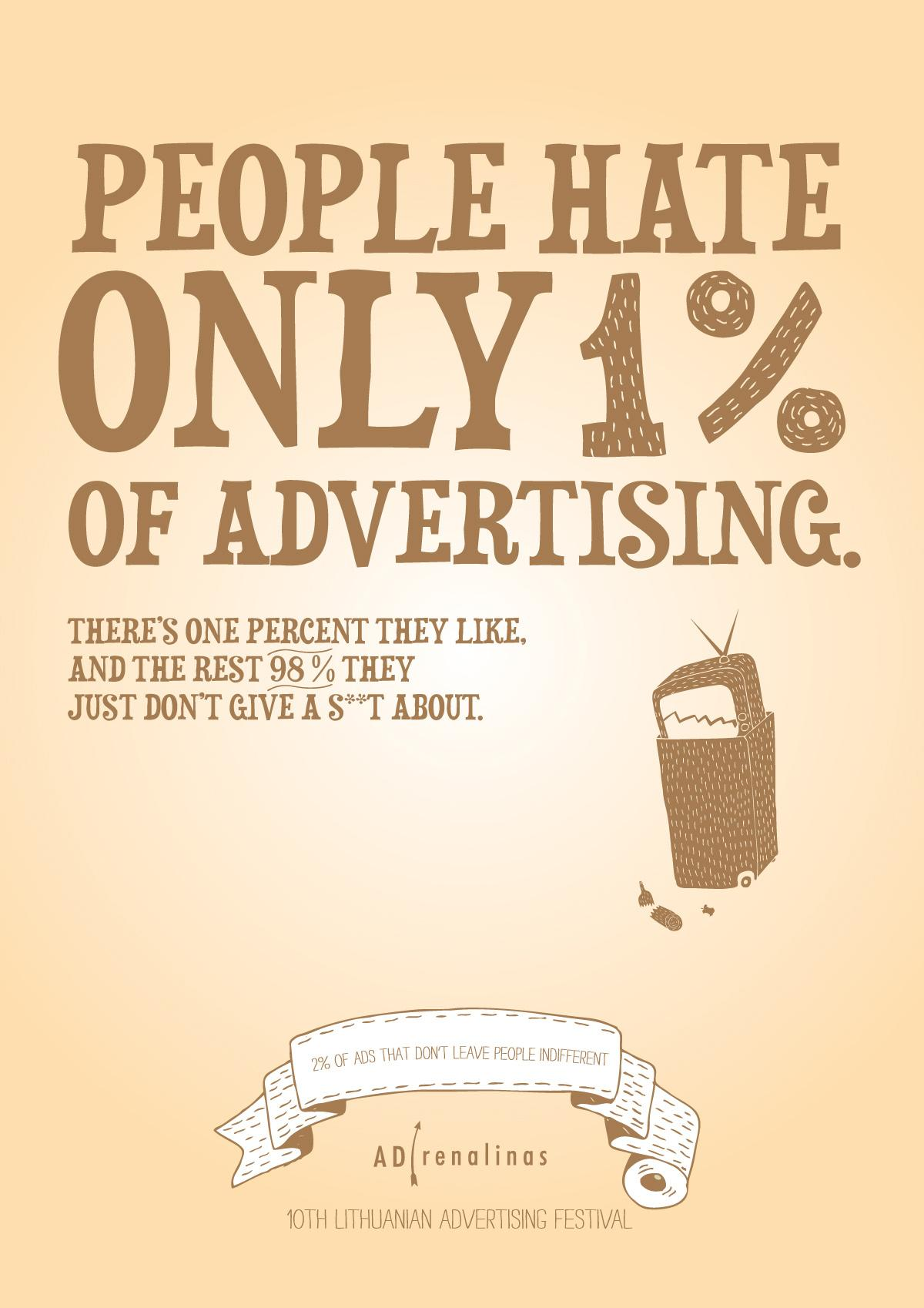 ADrenalinas Print Ad -  Advertising Truth, 1%