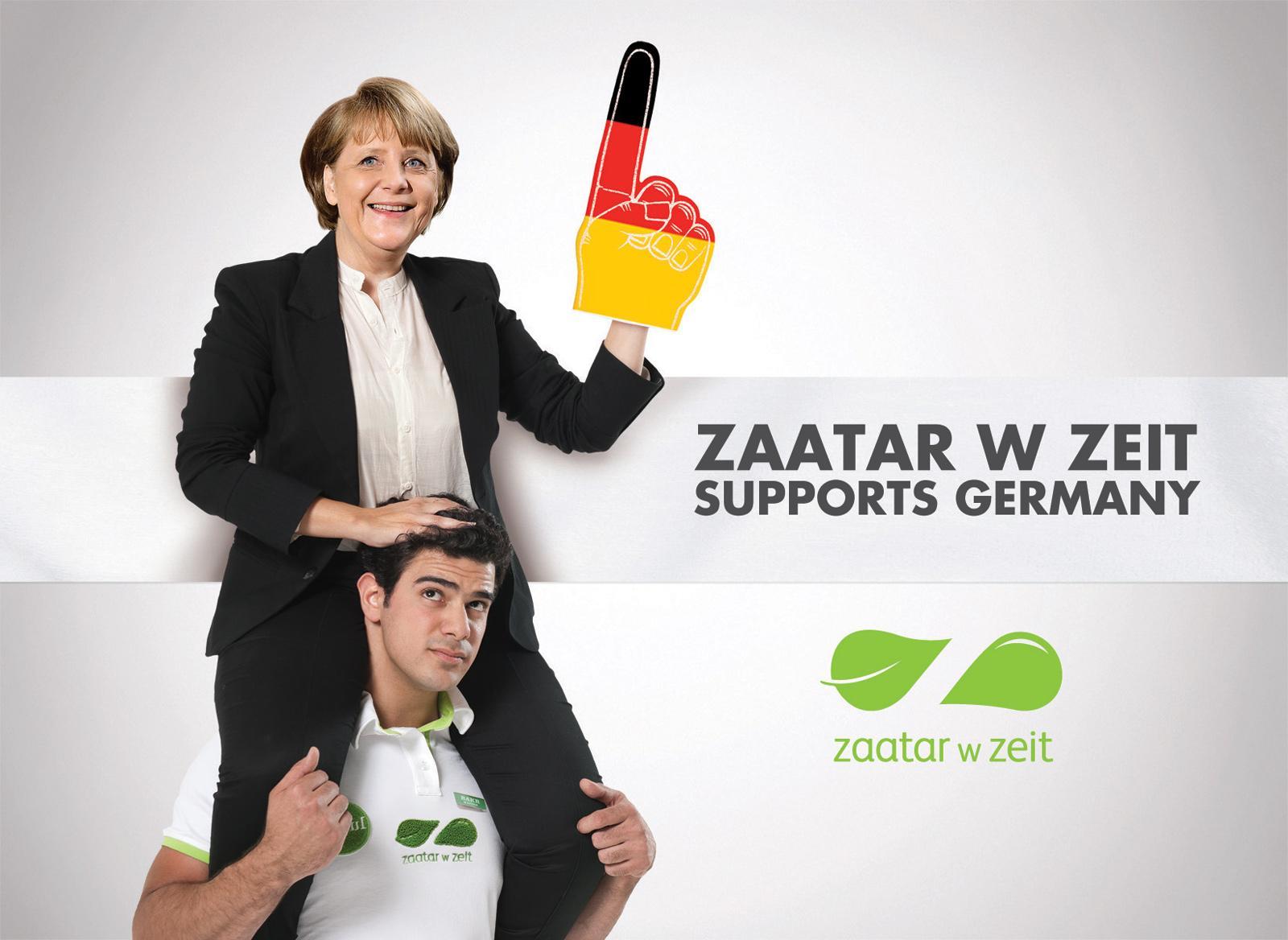 Zaatar W Zeit Print Ad -  Football Euro Cup 2012, Merkel