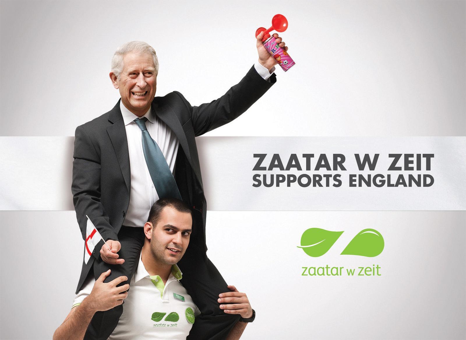Zaatar W Zeit Print Ad -  Football Euro Cup 2012, Prince Charles