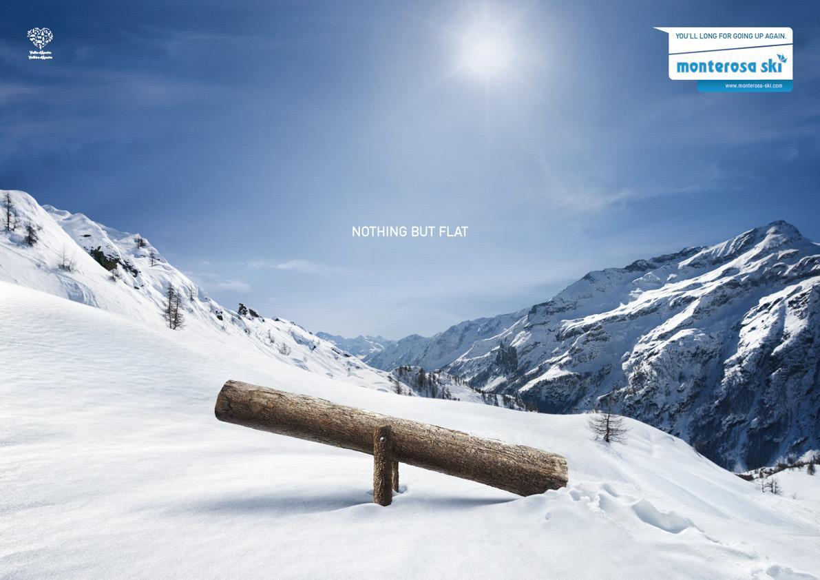 Monterosa Ski Print Ad -  Swing