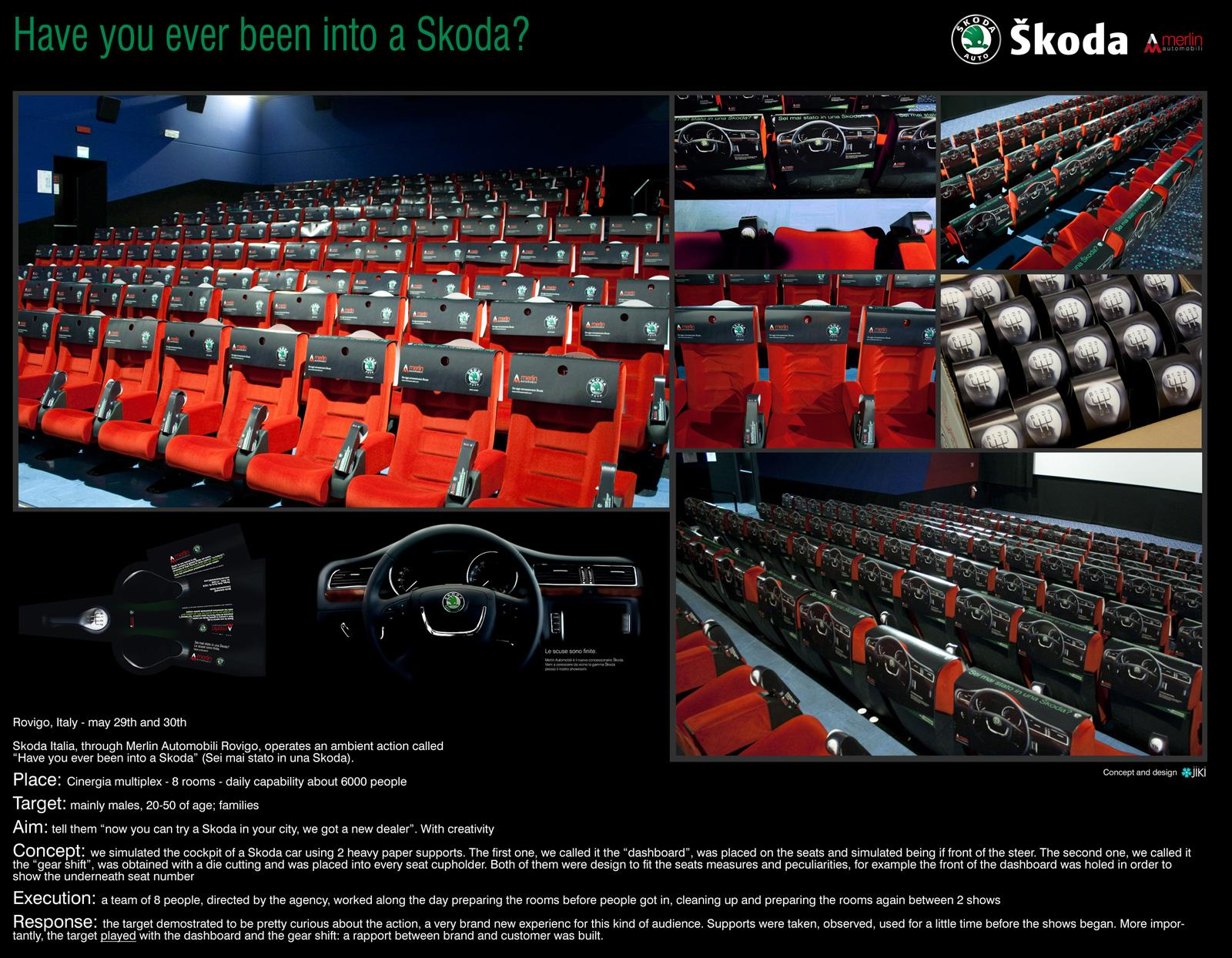Skoda Ambient Ad -  Have you ever been into a Skoda?