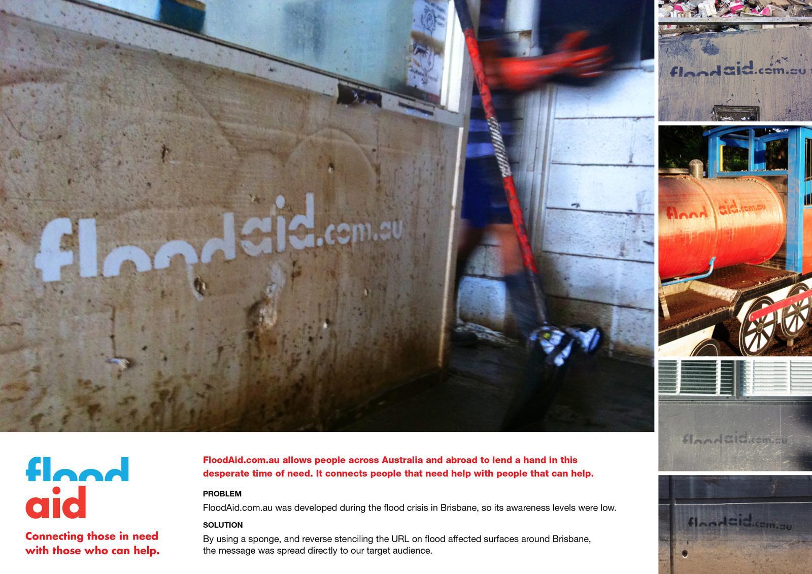 FloodAid.com.au Ambient Ad -  URL