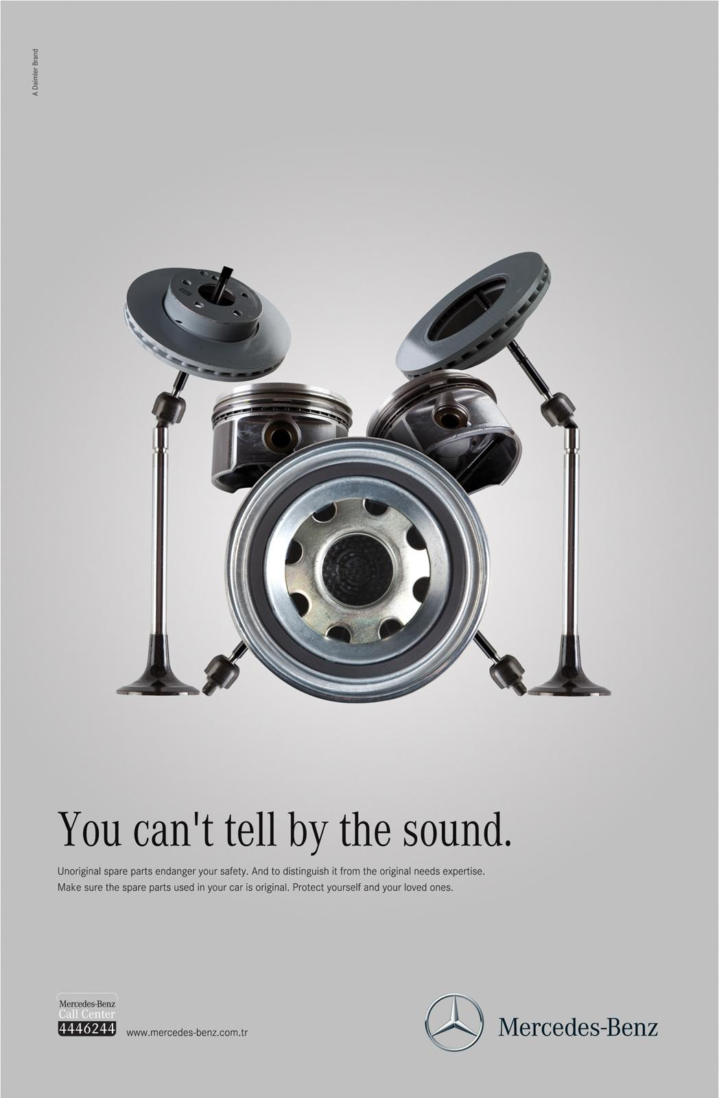 Mercedes Print Ad -  Senses, Sound