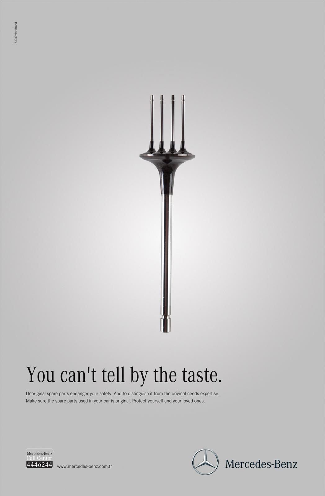Mercedes Print Ad -  Senses, Taste