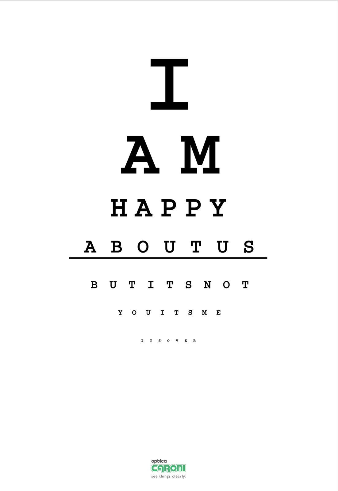 Optica Caroni Print Ad -  Happy