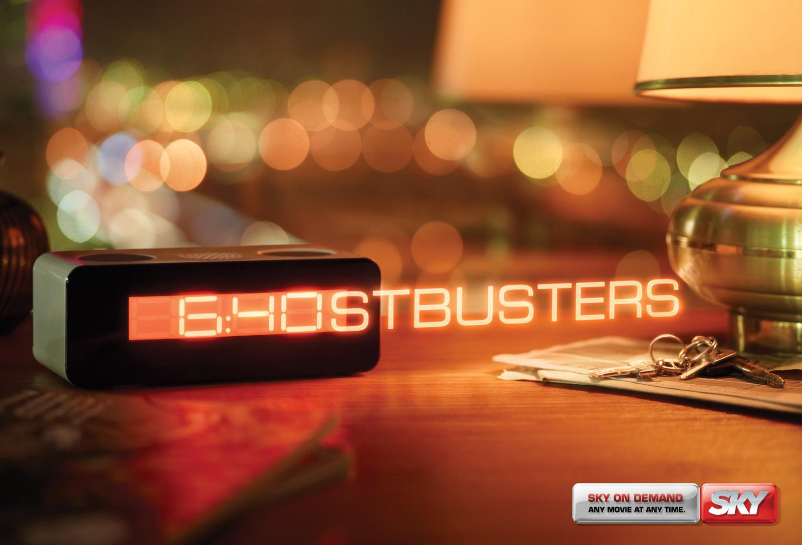 SKY Print Ad -  Any Movie, Any Time, Ghostbusters