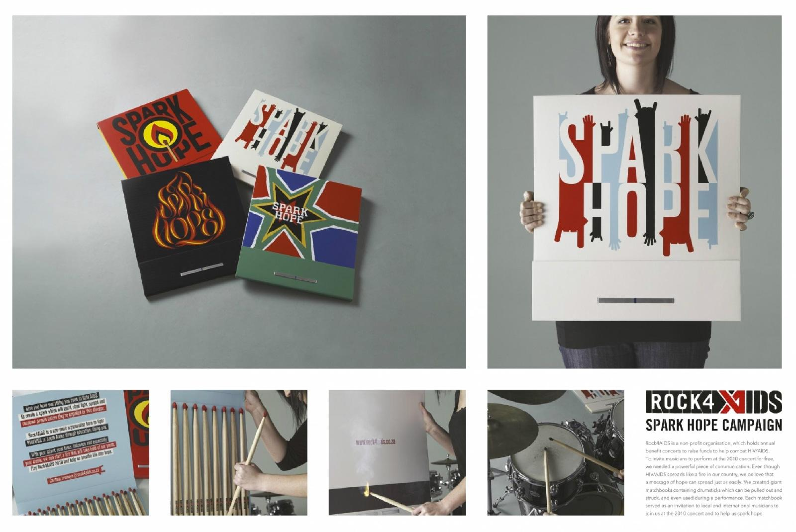 Spark Hope Direct Ad -  Art for Aids, Matchbook