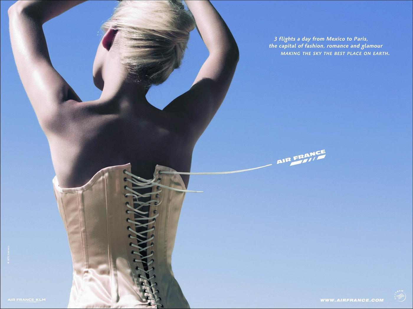 Air France Print Ad -  Corset