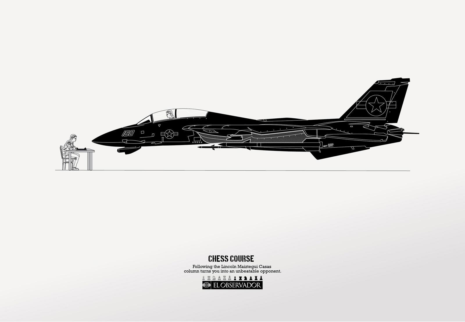 El Observador Print Ad -  Fighter jet