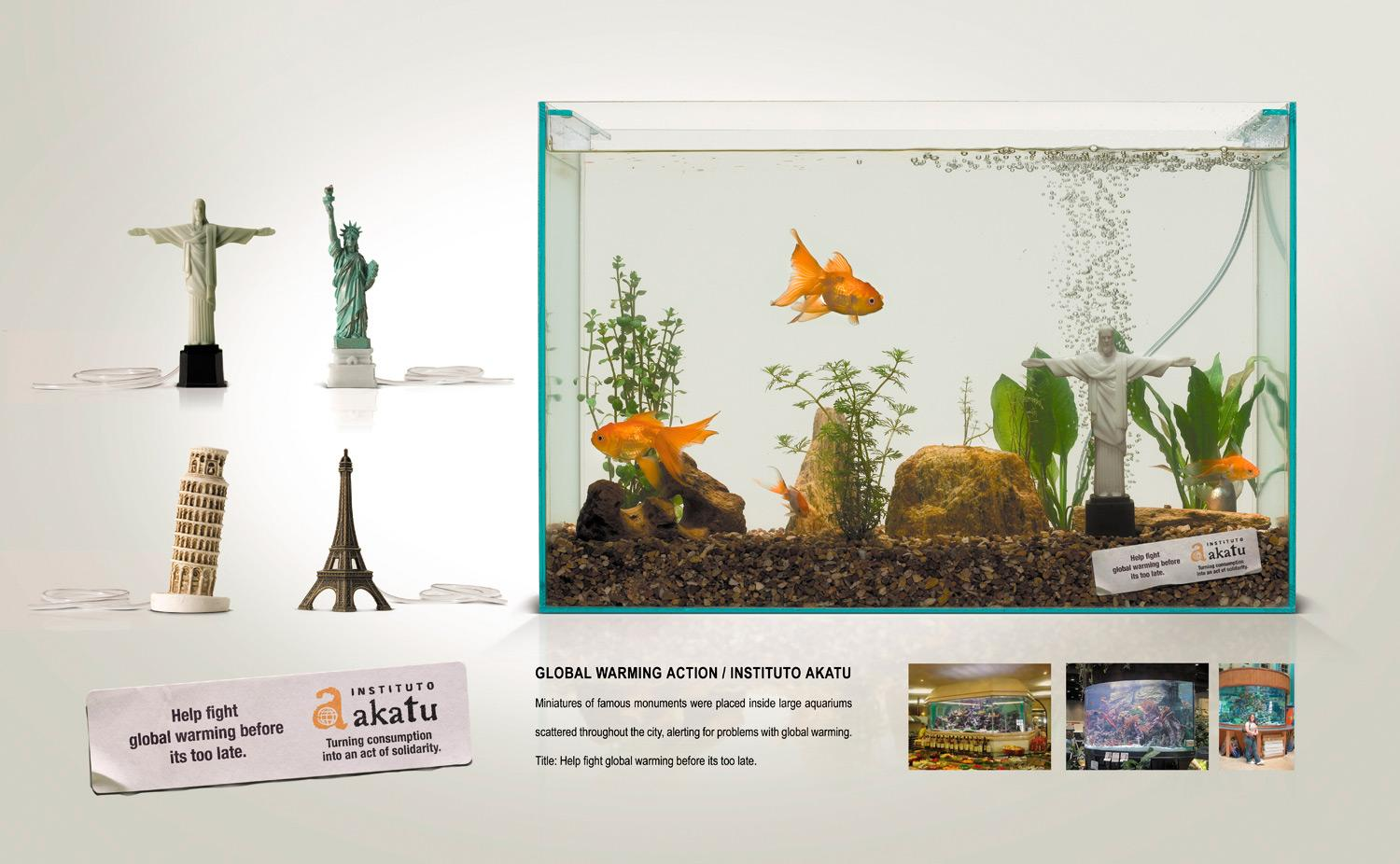 Akatu Institute Ambient Ad -  Aquarium monuments