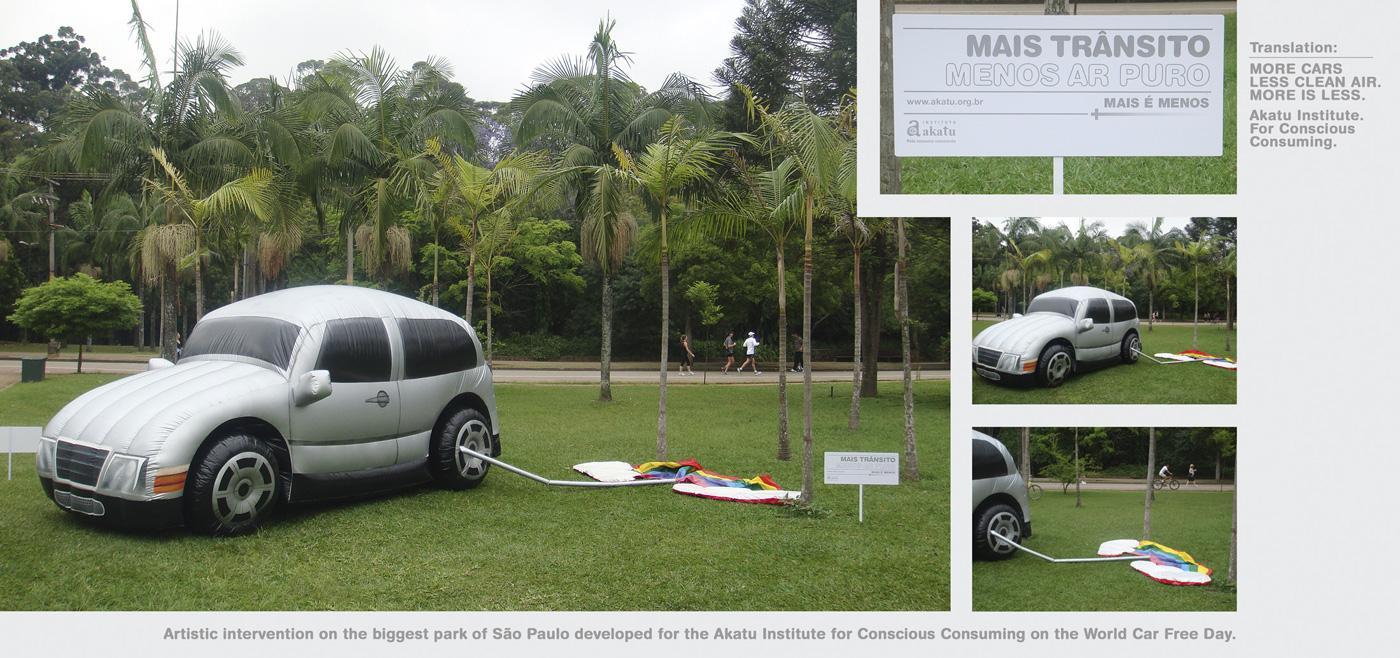 Akatu Institute Ambient Ad -  Artistic intervention