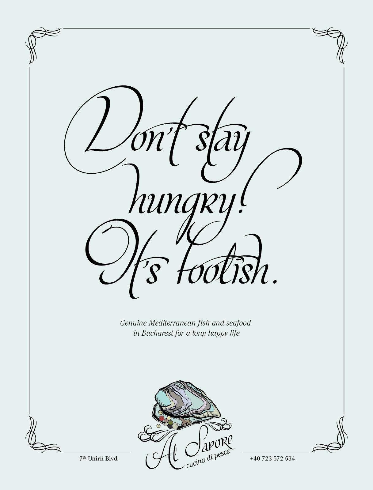Al Sapore Restaurant Print Ad -  Steve Jobs
