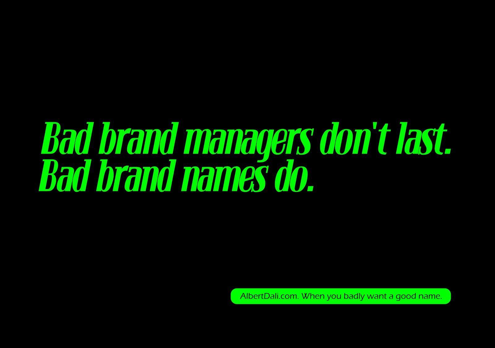 Albert Dali Print Ad -  Bad brand managers