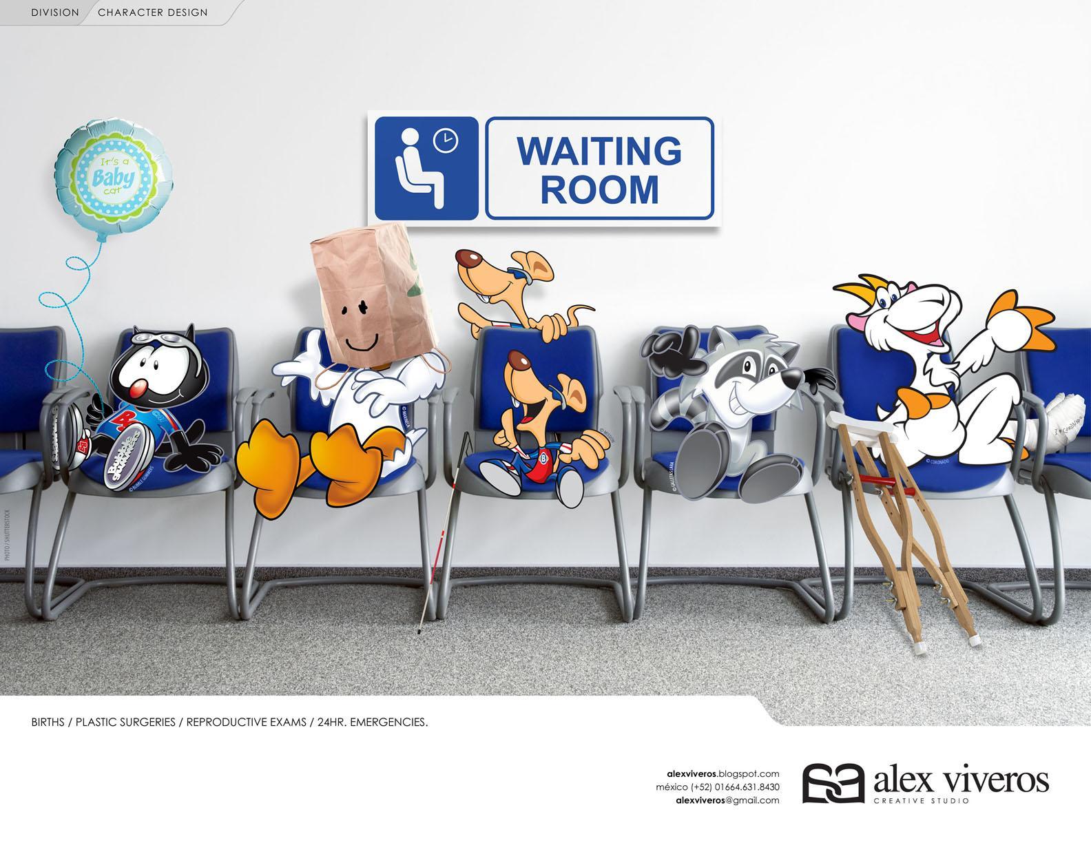 Alex Viveros Print Ad -  Character design, 1