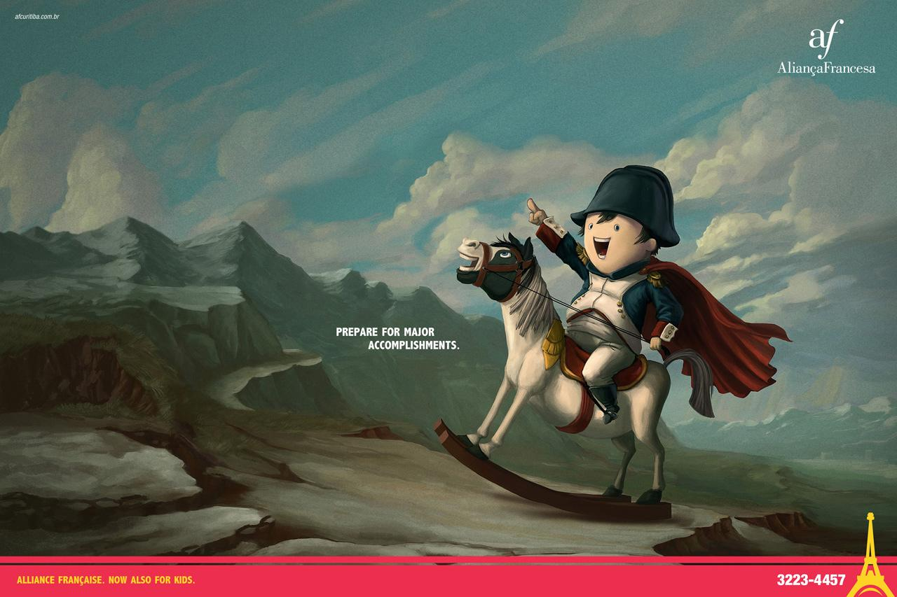 Aliança Francesa Print Ad -  Prepare for major accomplishments