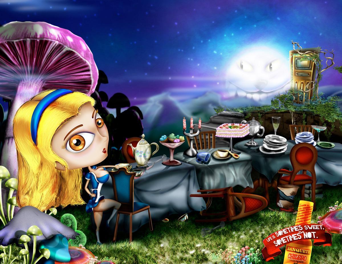 Banquete Print Ad -  Alice