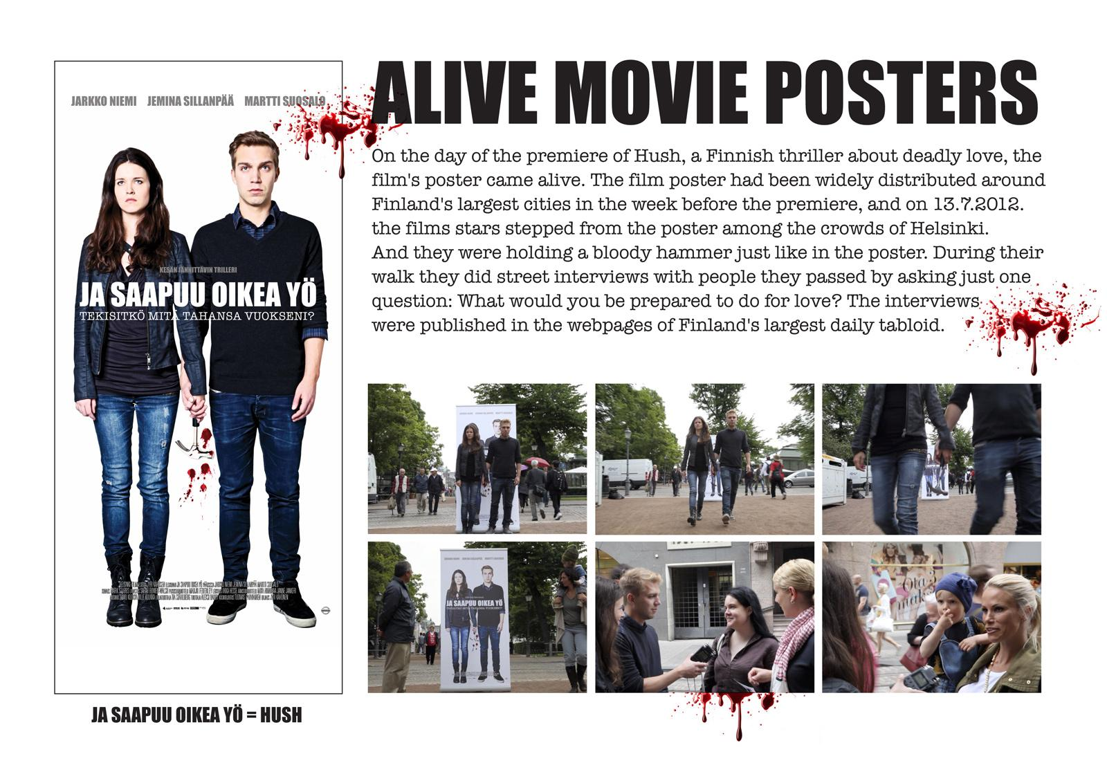 Hush Outdoor Ad -  Alive Movie Posters