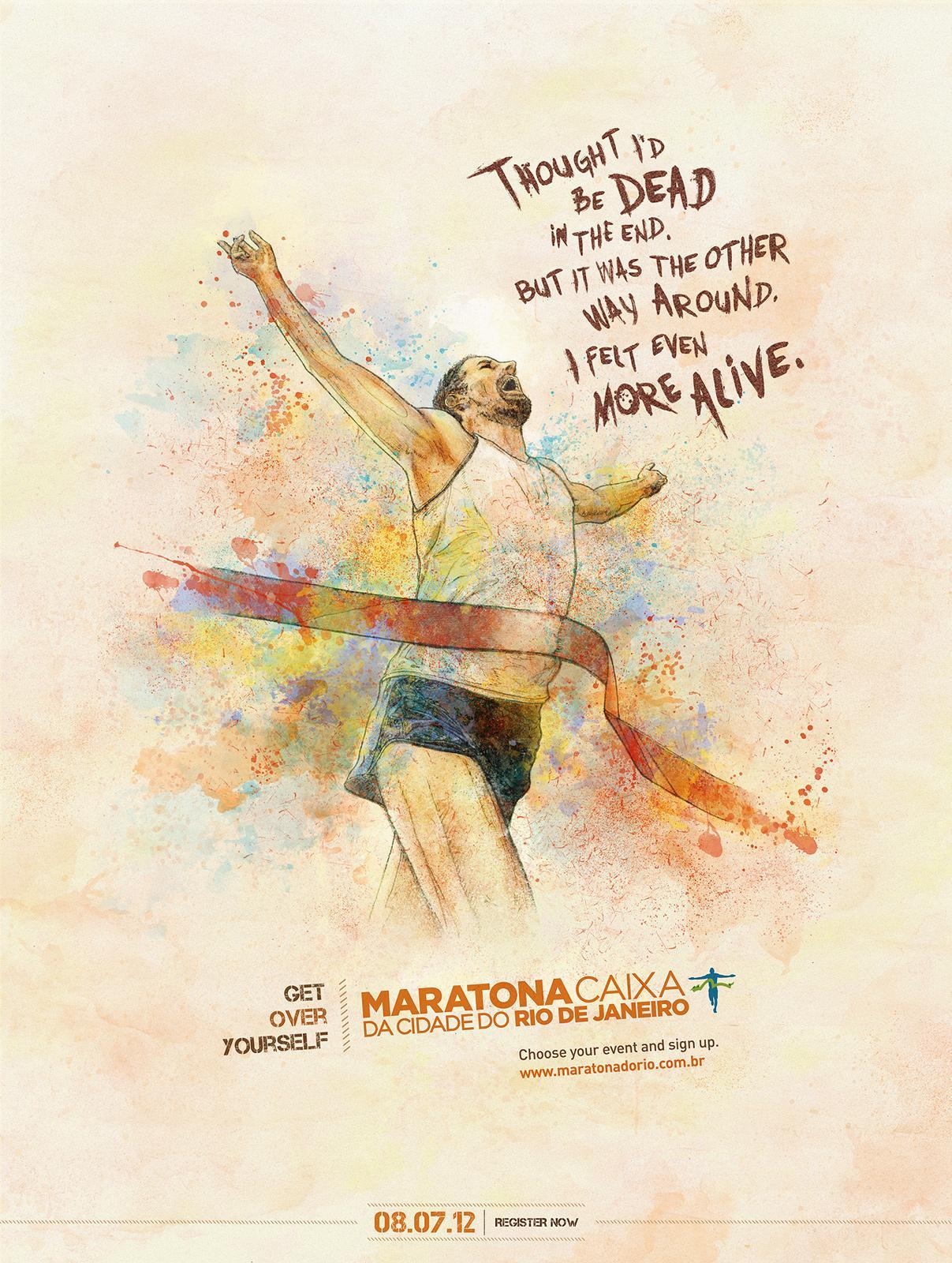 Maratona do Rio Print Ad -  Alive