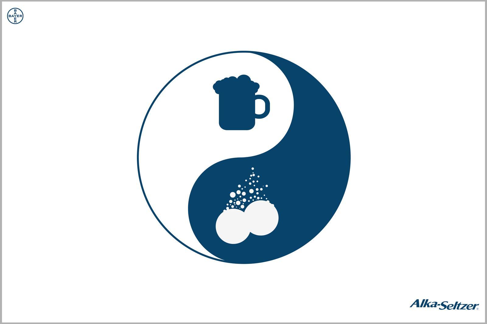Alka Seltzer Print Ad -  Ying Yang Beer