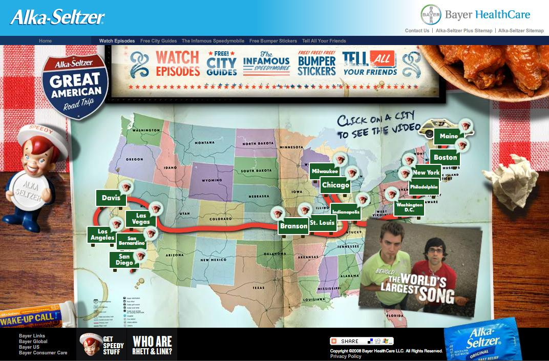 Alka Seltzer Digital Ad -  Great American road trip