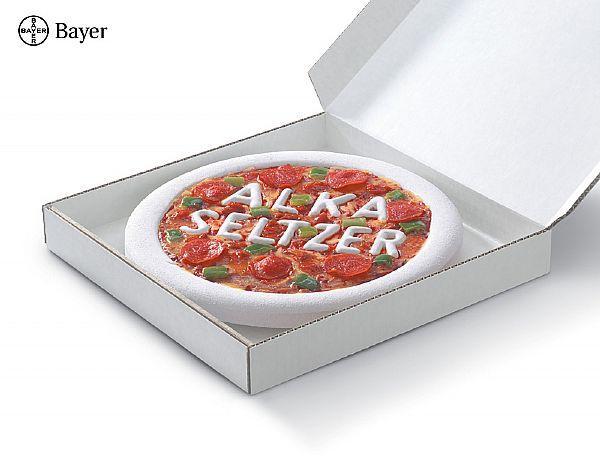 Alka Seltzer Print Ad -  Pizza