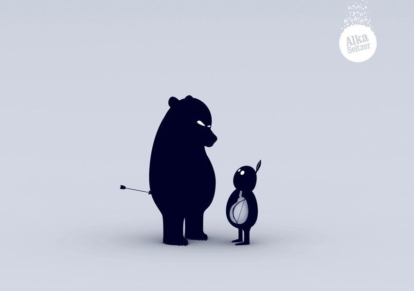 Alka Seltzer Print Ad -  Bear