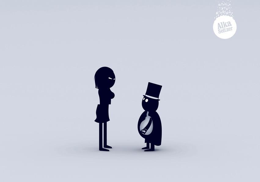 Alka Seltzer Print Ad -  Magician