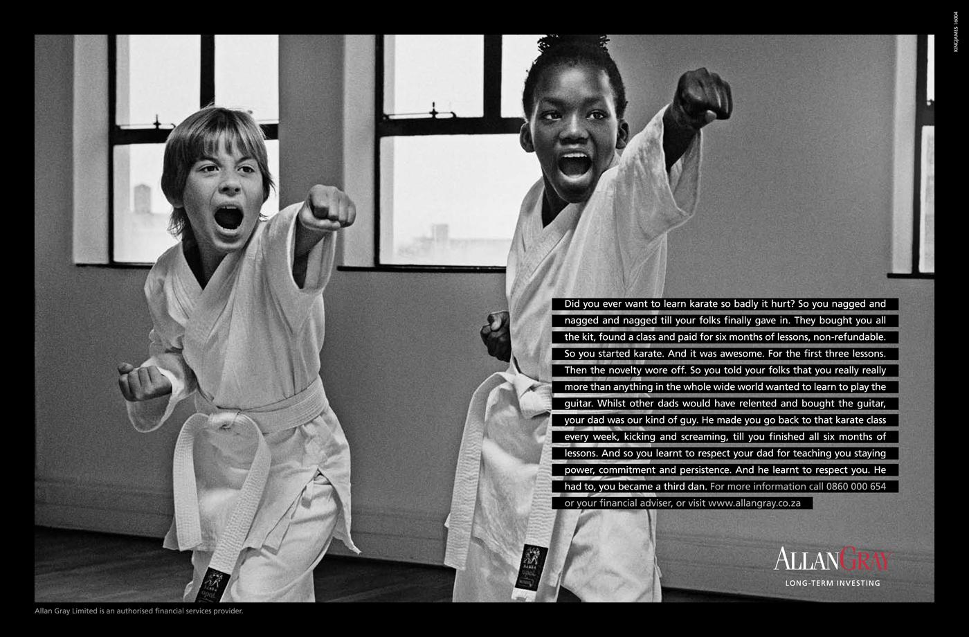 Allan Gray Print Ad -  Lessons from Childhood, Karate