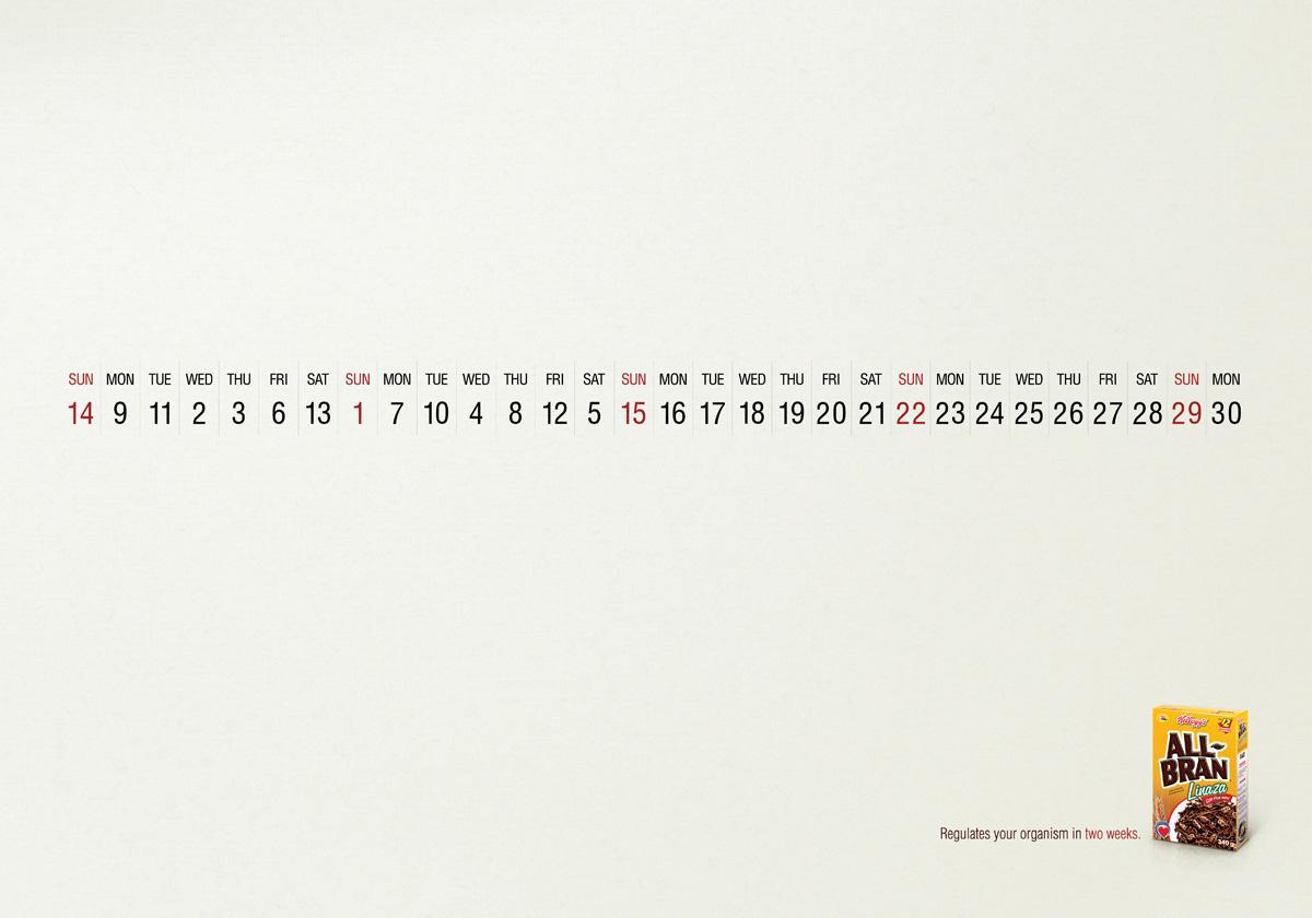 All Bran Print Ad -  Calendar