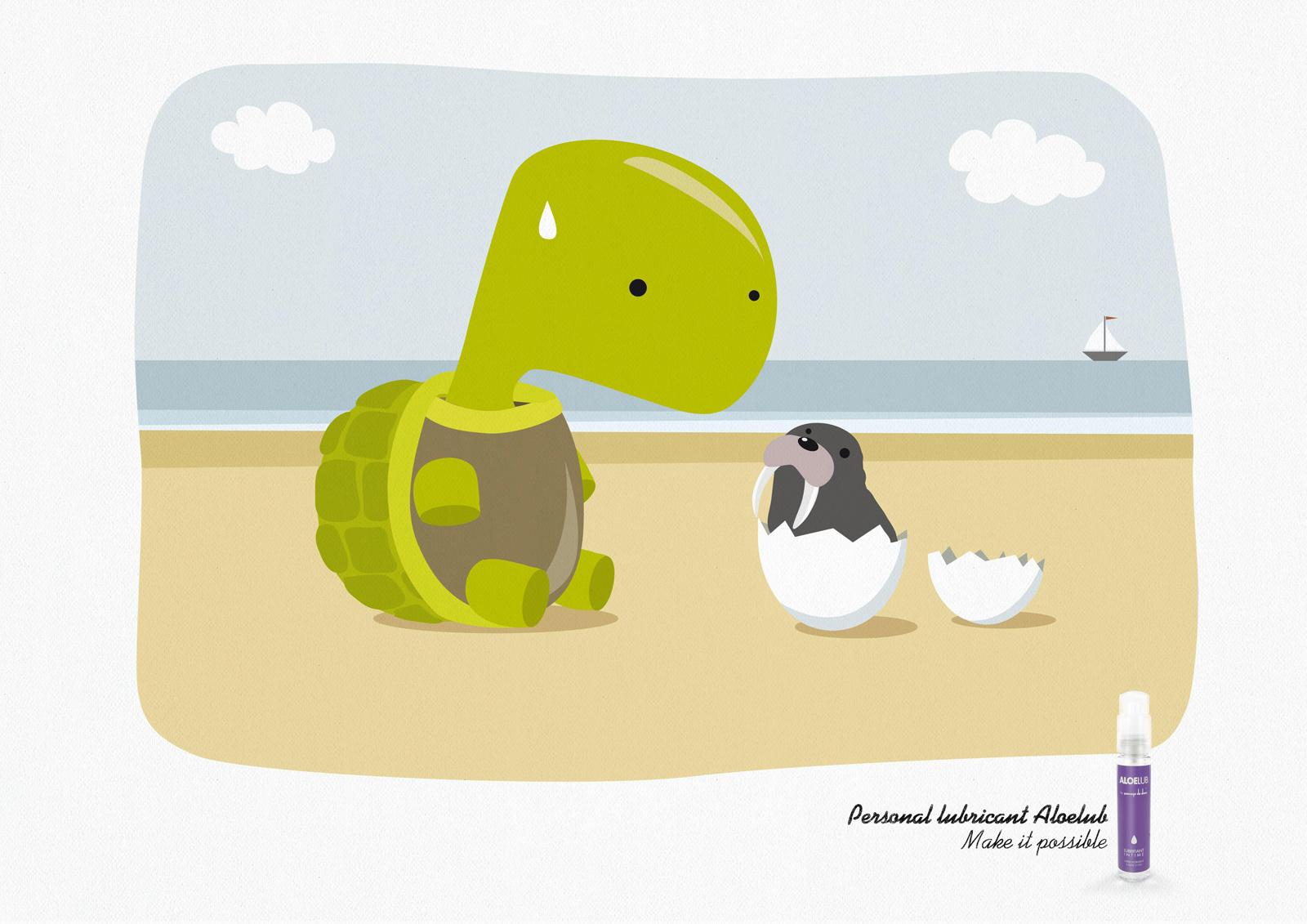 Aleolub Print Ad -  Turtle