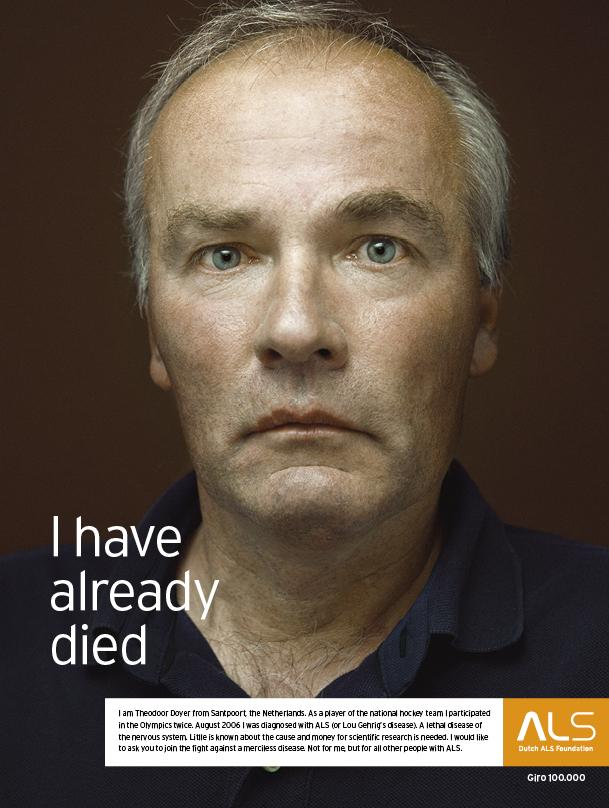 ALS Outdoor Ad -  I have already died, Man