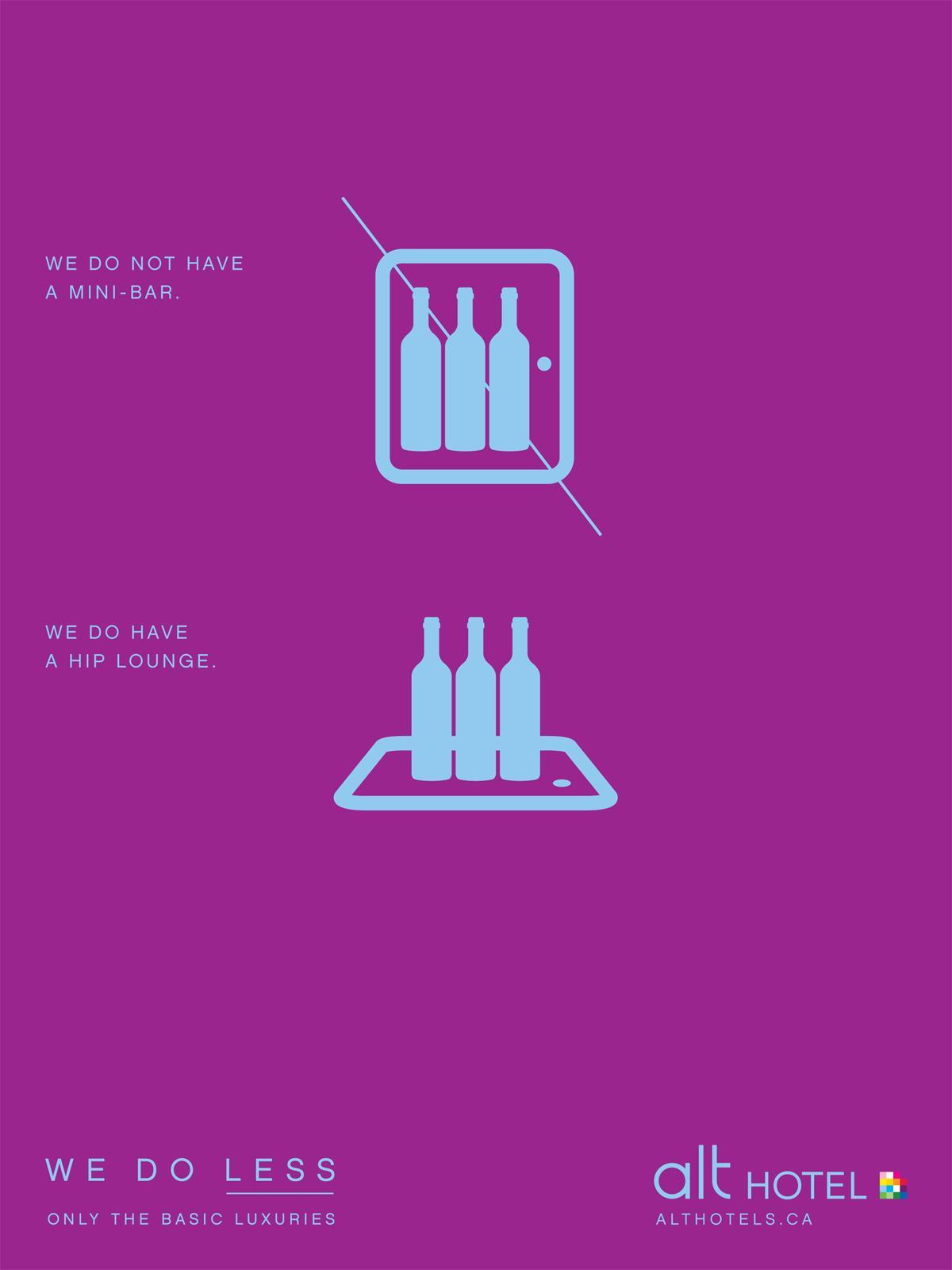 Alt Hotel Print Ad -  Mini-bar