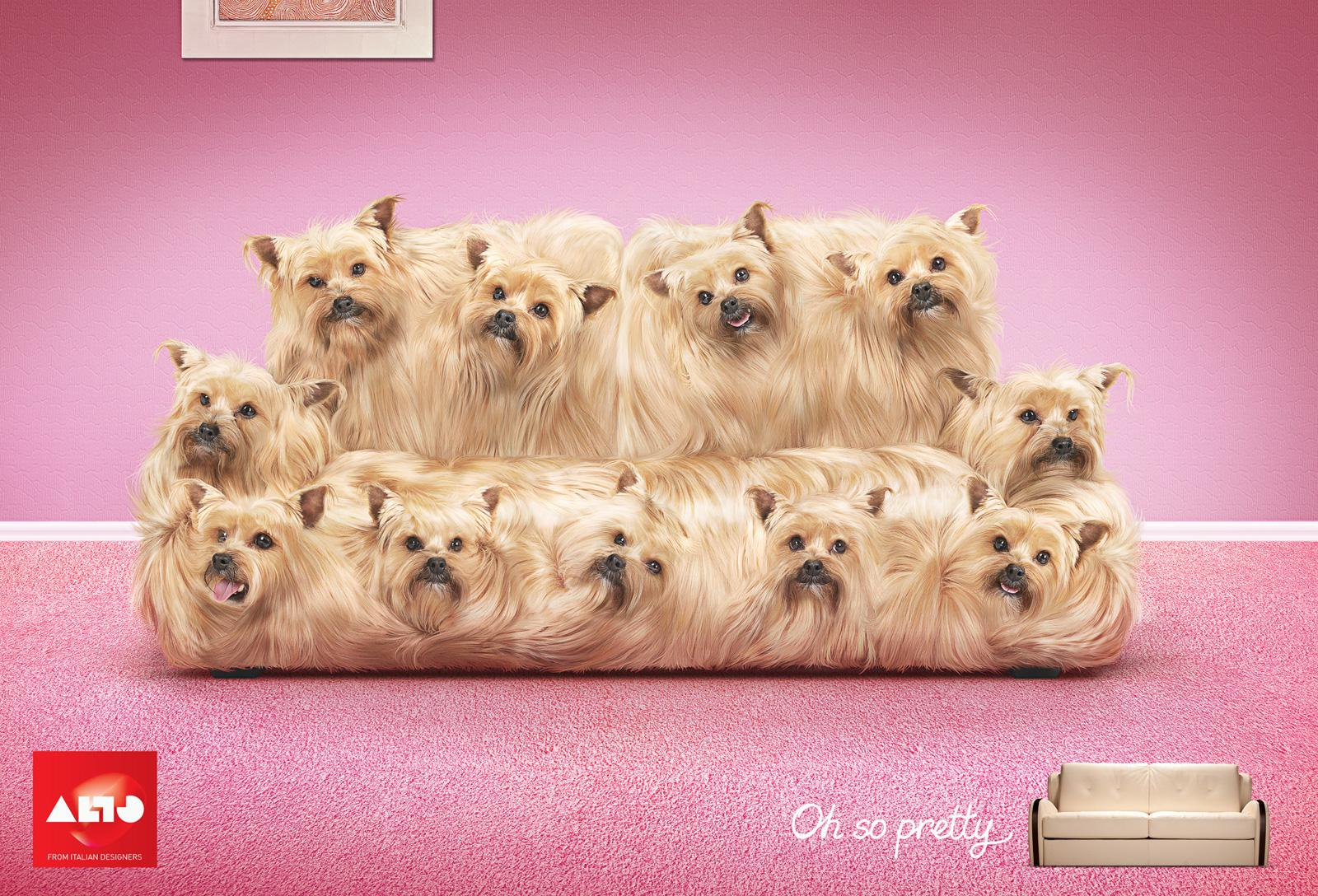 ALTO Mobili Print Ad -  Terrier Sofa