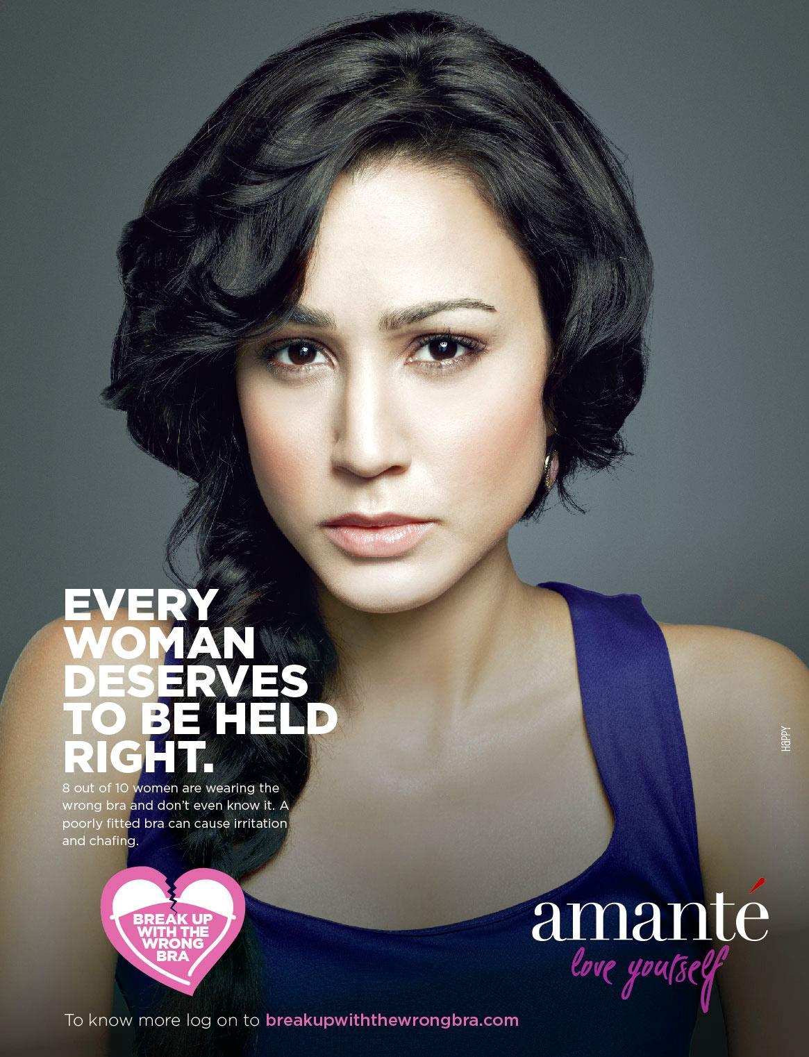 Amanté Print Ad -  Break up the wrong bra, 3