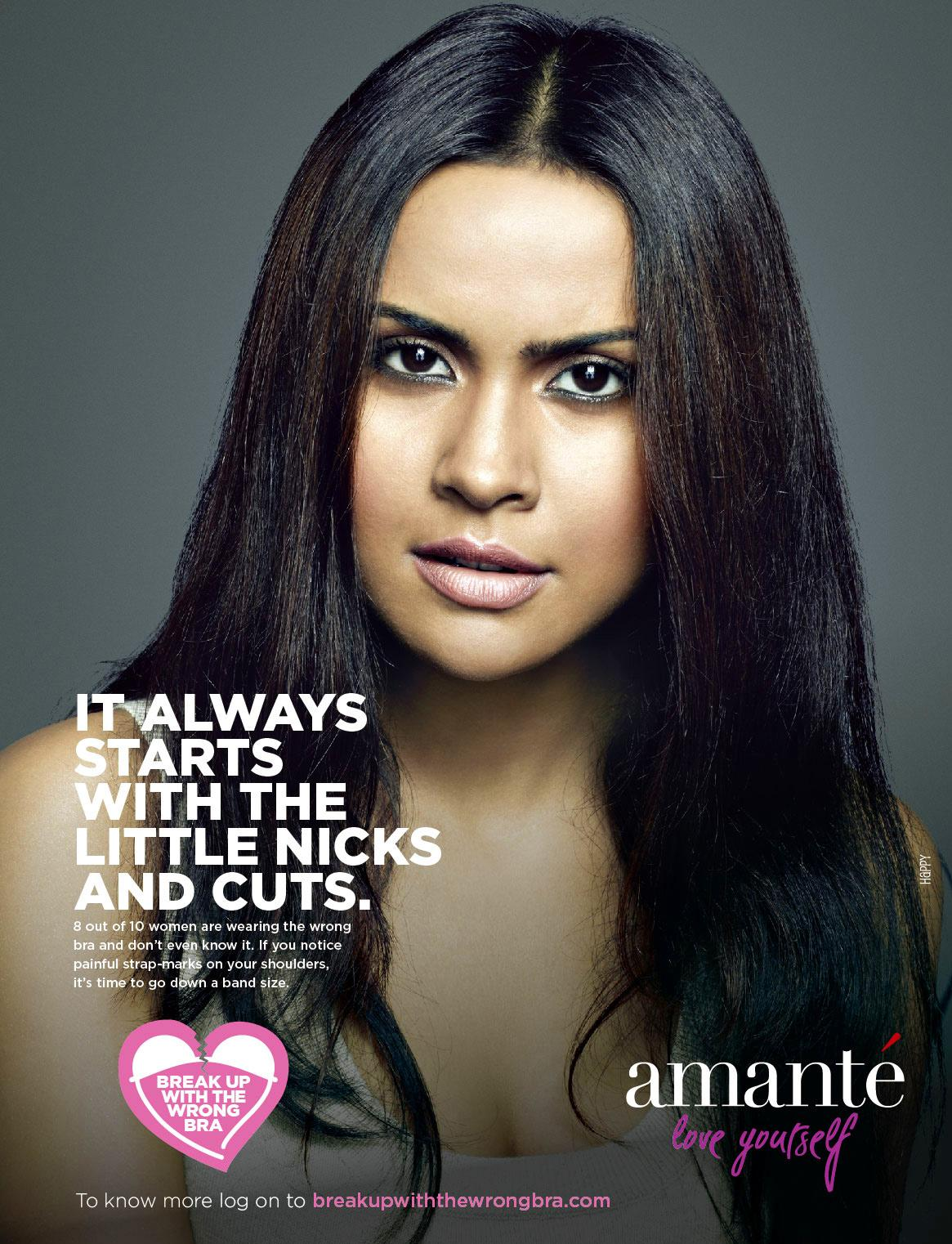 Amanté Print Ad -  Break up the wrong bra, 4