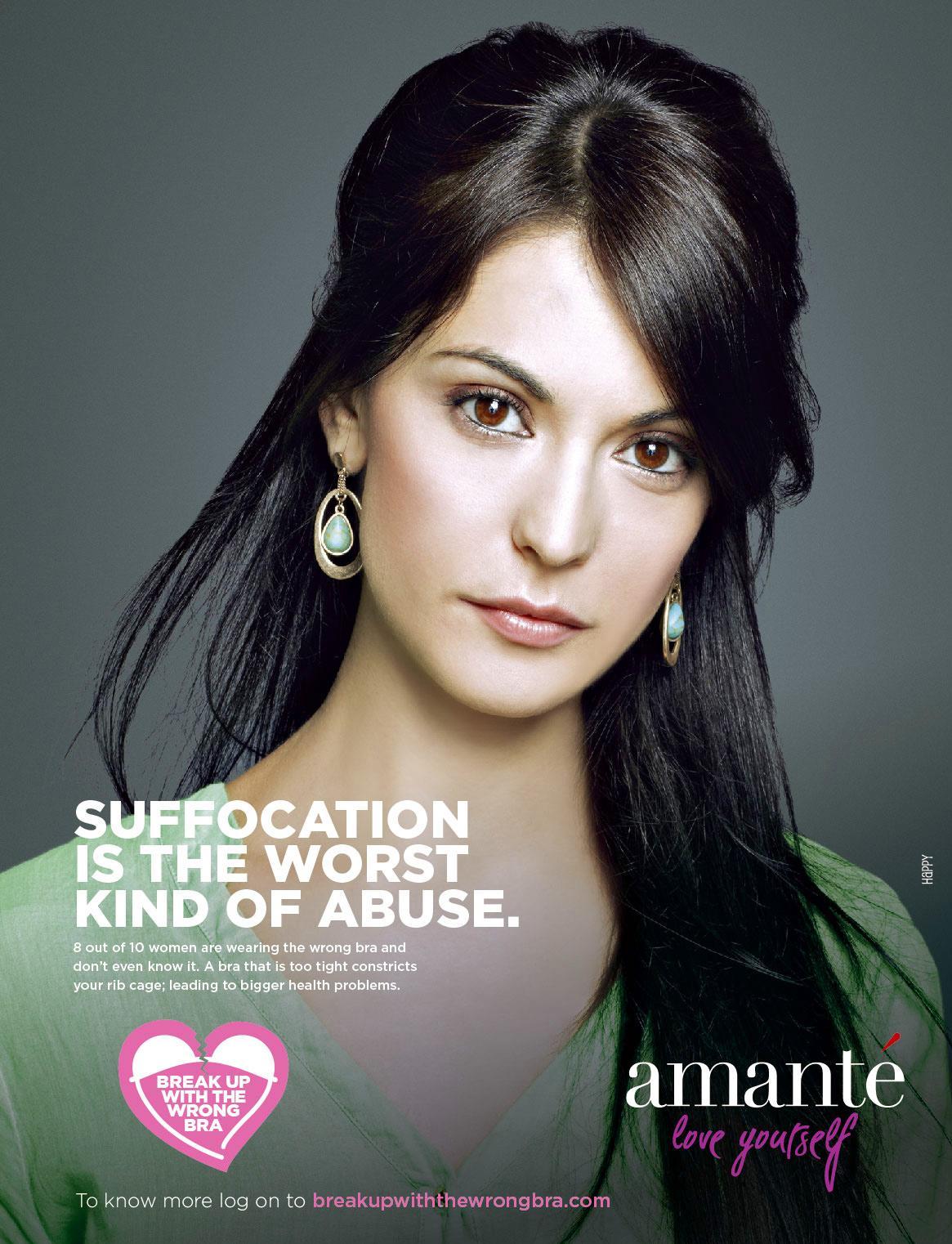 Amanté Print Ad -  Break up the wrong bra, 5