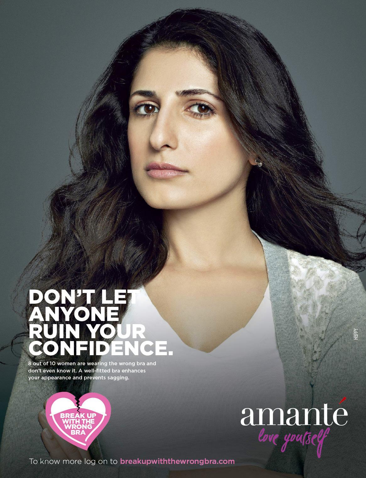 Amanté Print Ad -  Break up the wrong bra, 6