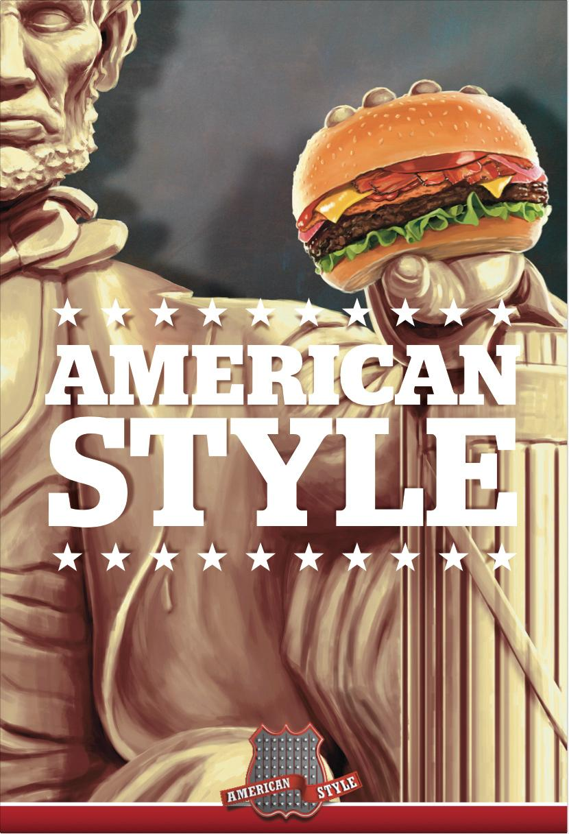 American Style Outdoor Ad -  Statue, 2