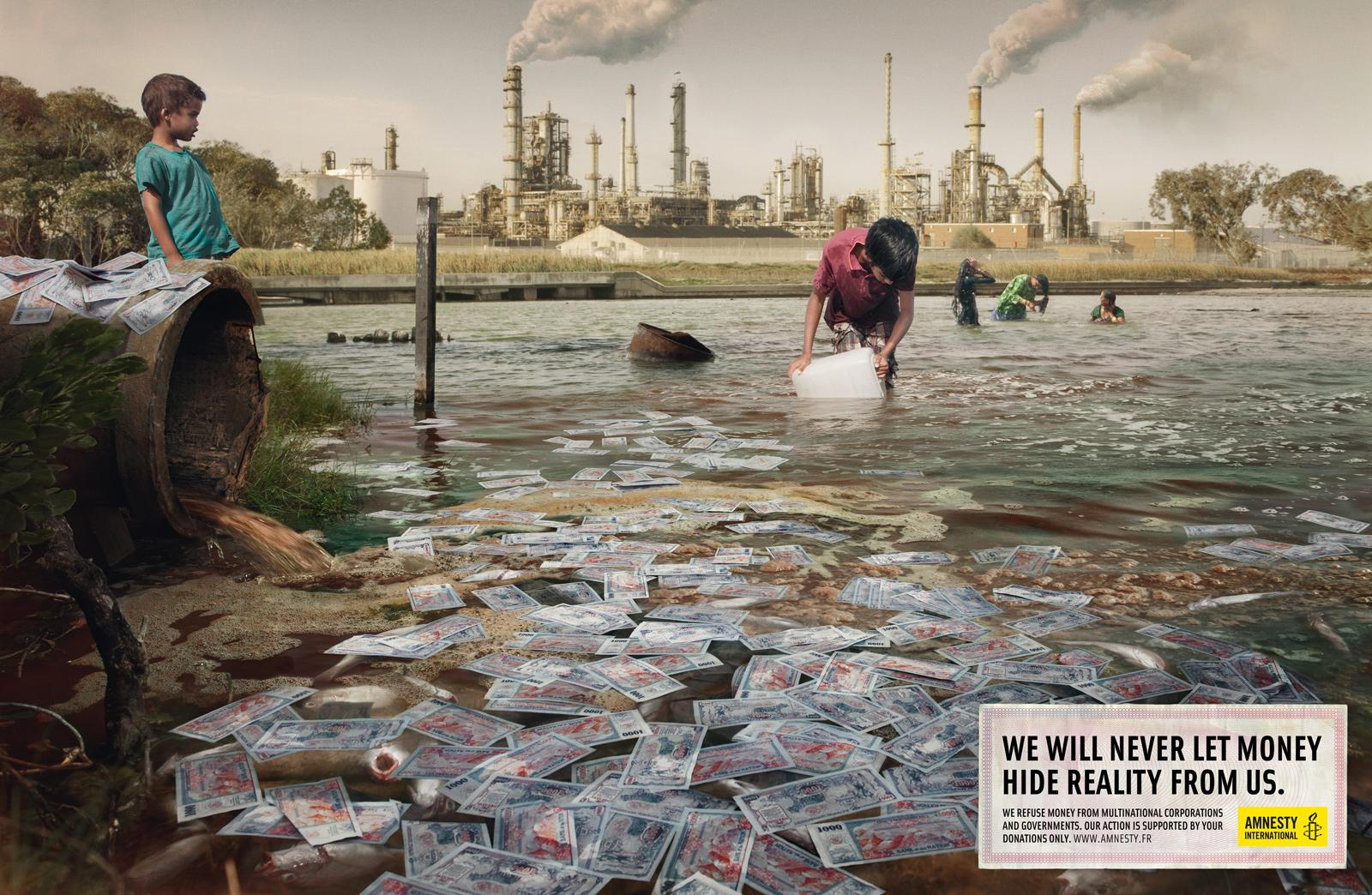 Amnesty International Print Ad -  Pollution