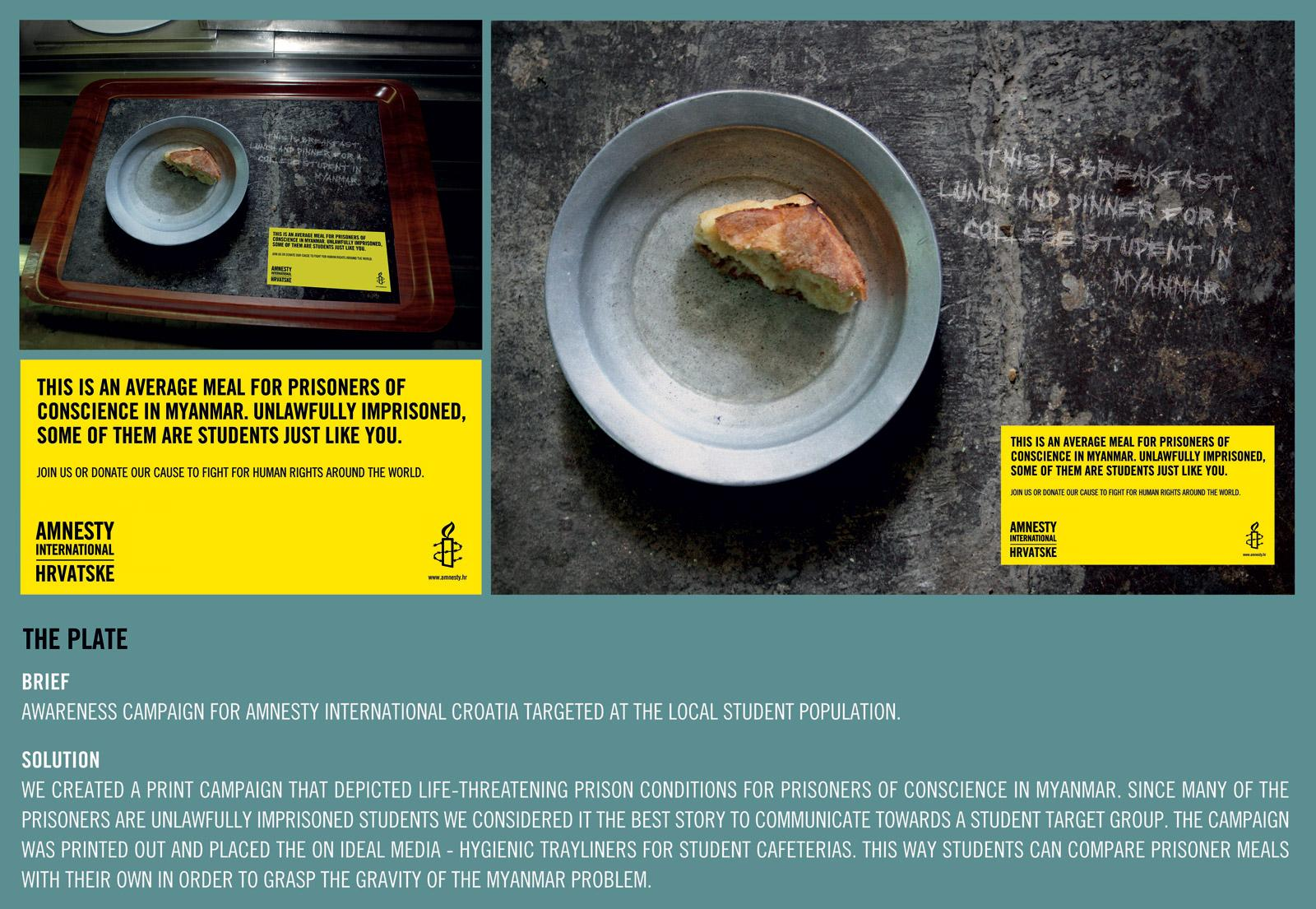 Amnesty International Direct Ad -  The plate