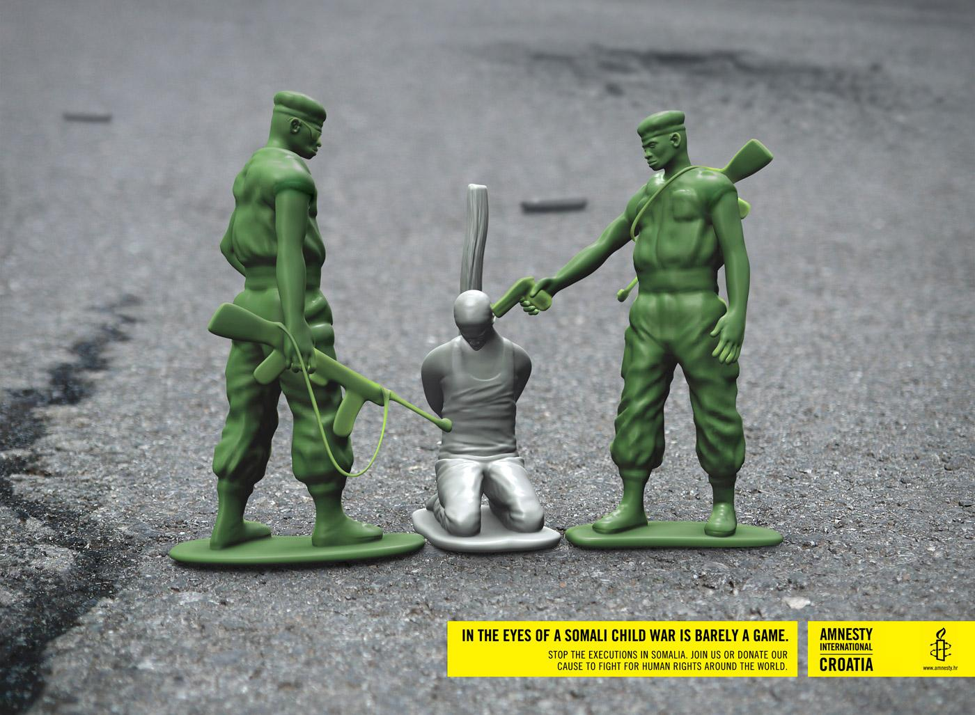 Amnesty International Print Ad -  Toy soldiers