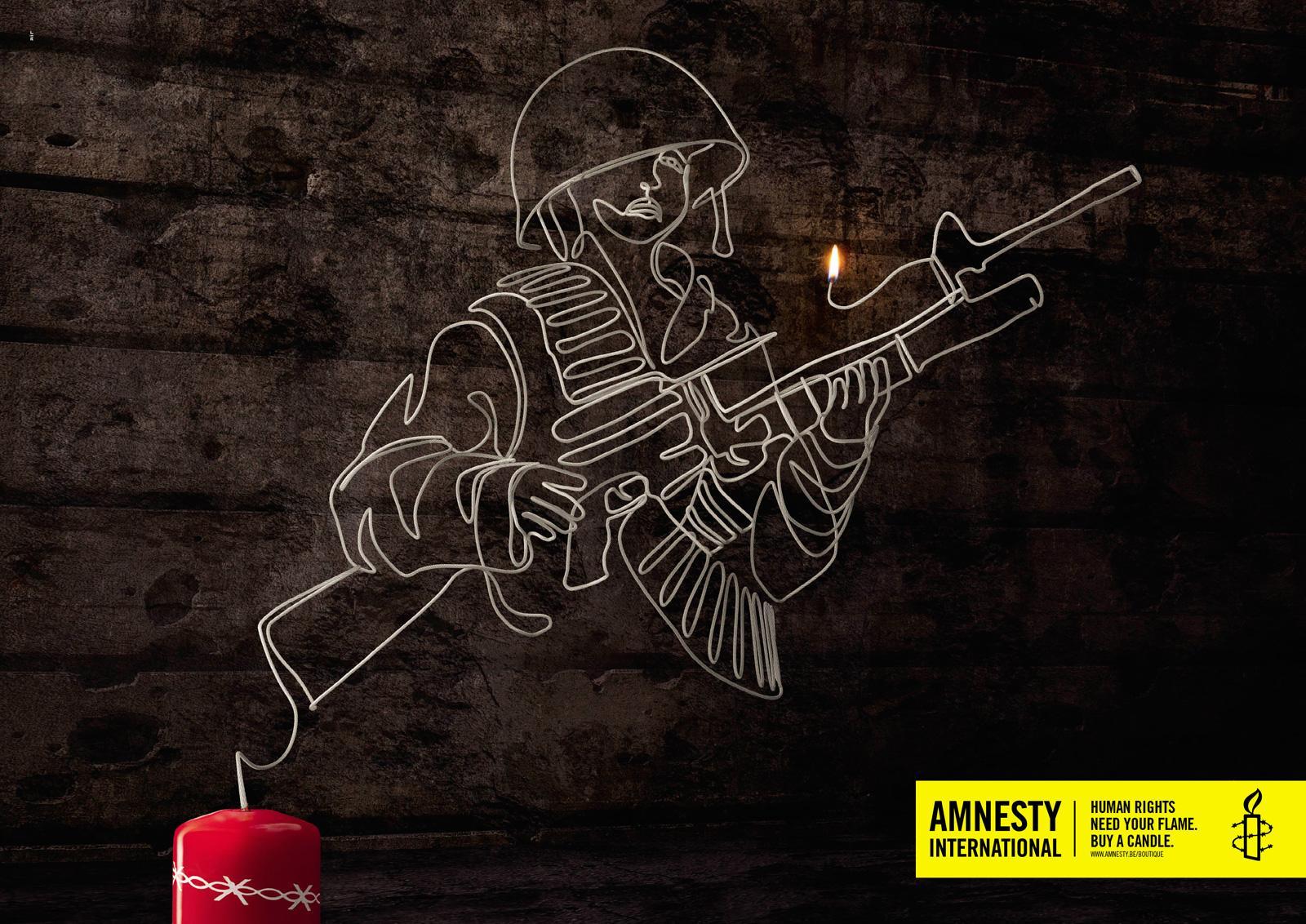 Amnesty International Print Ad -  Child soldier