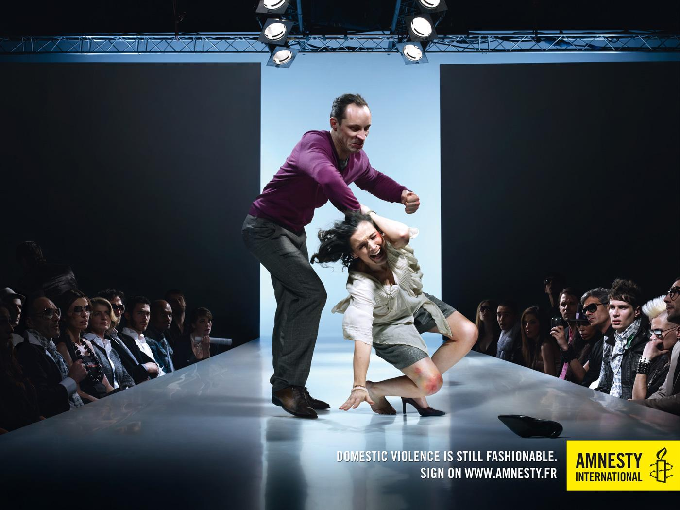Amnesty International Print Ad -  Fashion, Domestic violence